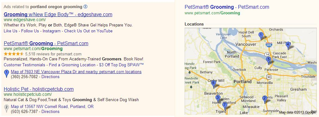 Location Extension from AdWords