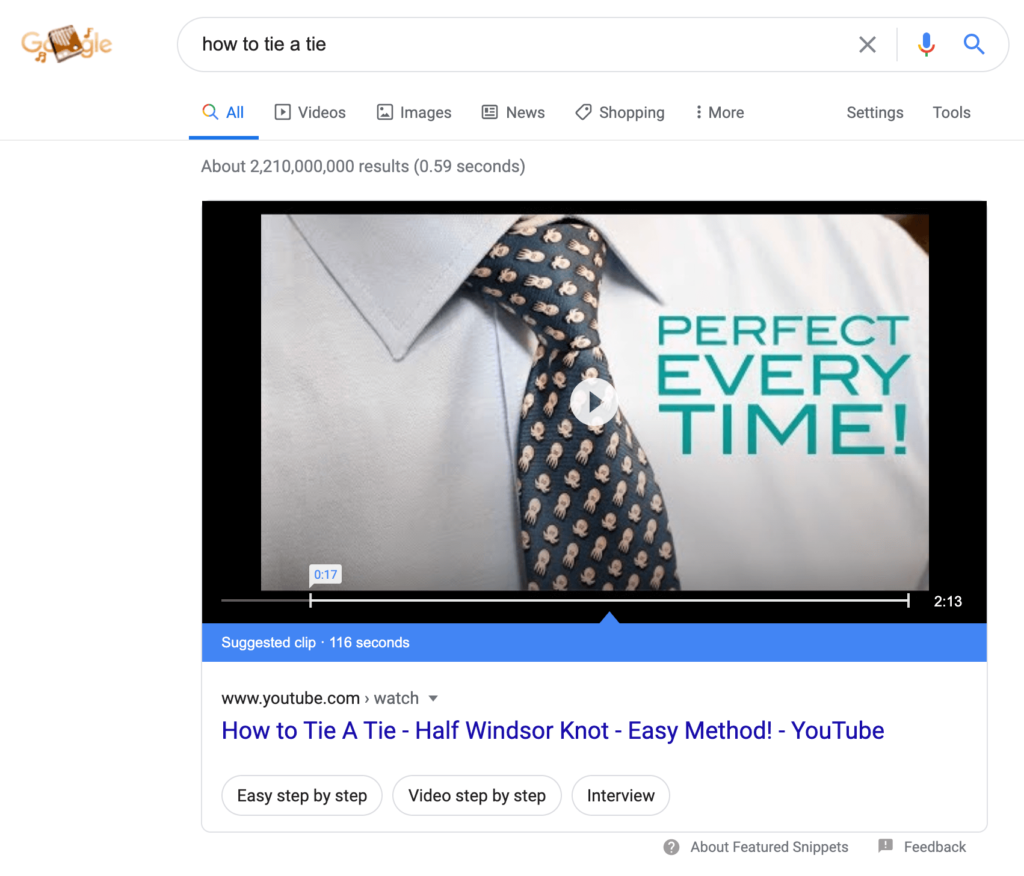 youtube-featured-snippet-how-to-tie-a-tie