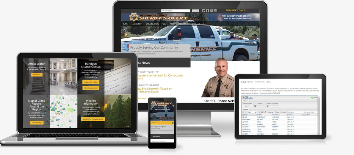 Services provided to Deschutes County Sheriff